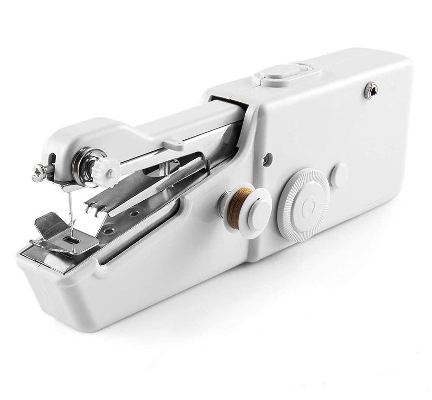 Unilive Handy Electric Tailor Stitch - Professional Handheld Portable Mini Electric Sewing Machine for Home Travel USE,Quick Handy Stitch Tool for Fabric,Clothing,Kids Cloth (White)