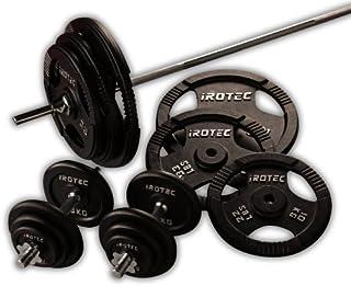 IROTEC(アイロテック)アイアンバーベルダンベル140KGセット/ベンチプレス スクワット 筋トレ トレーニング器具