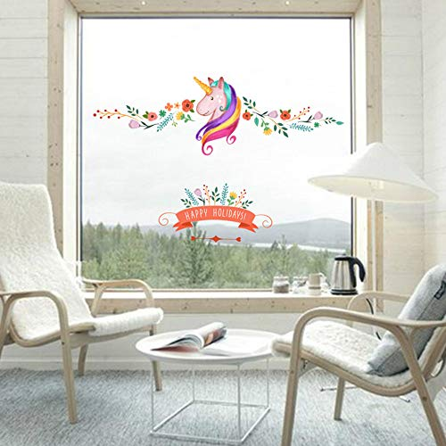 Fijne Feestdagen Magic Paard Muurstickers Stickers voor Kinderen Kamer Dieren Home Decoratie Poster Mural Kwekerij Decor