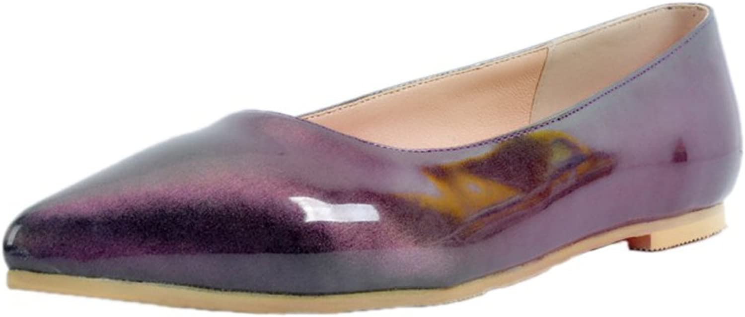 CASSOCK Women's Womens Flats shoes Pointed Toe Boat Ballets Casual Flat shoes