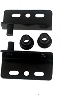 Black Pivot Hinges with Bushing Top and Bottom 2 Sets