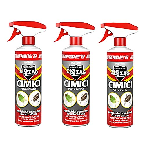 3 PEZZI Zig Zag,Cimici, Insetticida Microincapsulato