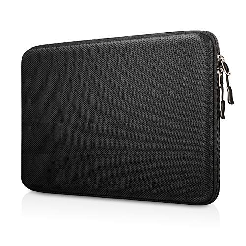 "Fintie Funda para Tablet y Portátil de 13"", Concha Dura Bolsa para 13.3"" MacBook Air A2179 A1932, MacBook Pro 13 A2251 A2289 A2159 A1989 A1706 A1708, Surface Pro 7/X/6/5/4/3, Negro"