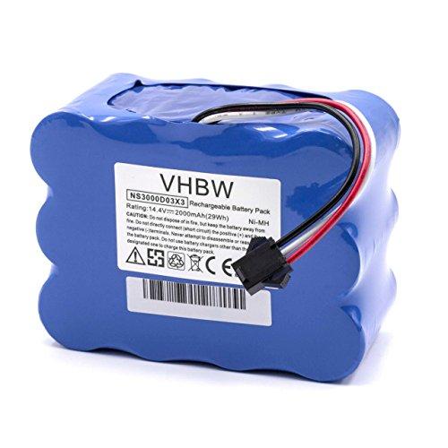 vhbw NiMH Batterie 2000mAh (14.4V) pour Robot aspirateur Home Cleaner Robots domestiques Nestor E.Ziclean Furtiv