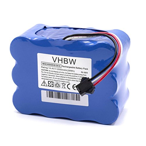 vhbw NiMH Akku 2000mAh (14.4V) für Saugroboter Home Cleaner Heimroboter wie YX-Ni-MH-022144