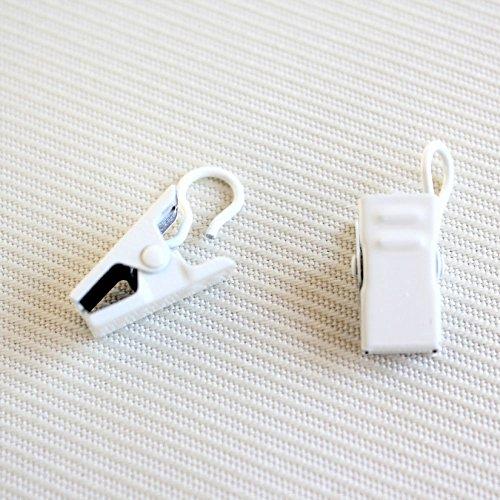 [窓美人] カーテンクリップ 「カーテンマルチクリップ フックタイプ」 挟むだけ 簡易カーテン作り DIY ホワイト 12個入り