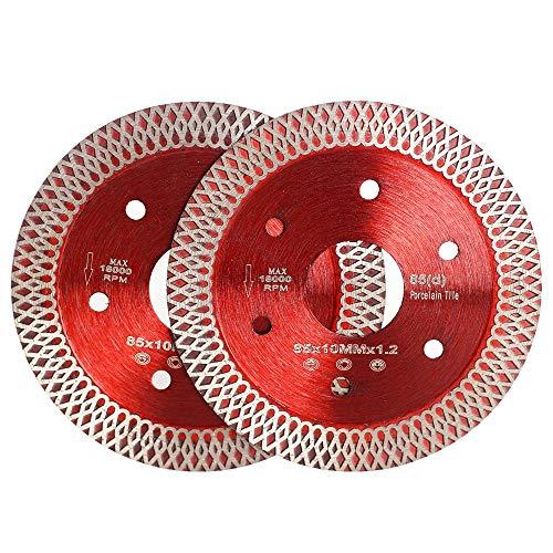 Casaverde 2 Pcs/Lot 3-3/8 Inch Diamond Porcelain Saw Blades Tile Blade for Cutting Porcelain Tile…
