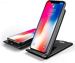 iPhone 8 Wireless Charger, icyber iPhone X Wireless Charger (No AC Adapter), 3-Coil Fast Wireless Charging Pad Stand for Galaxy Note 8/5 S8/S8+/S7/S7+/S6 Edge+, 7.5W for iPhone XS Max/XS/XR/X/8/8 Plus