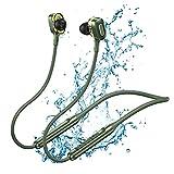 Auriculares in-ear con Bluetooth para correr, con cable de micrófono imantado, para deporte, hasta 15 horas de autonomía, HiFi Earphones, apto para música, llamadas y deportes