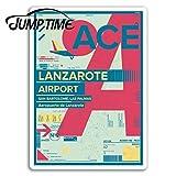 FAFPAY Sticker de Carro Tiempo de Salto para el Aeropuerto de Lanzarote Pegatinas de Vinilo Pegatina de Viaje portátil Equipaje Maletero Ventana calcomanía Accesorios de CocheEstilo A