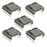ICQUANZX 5 unidades YX5200 DFPlayer Mini reproductor MP3 módulo de decodificación de voz MP3 tarjeta TF U-Disk IO/puerto serie/AD para Arduino