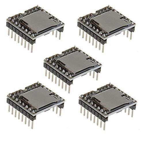 ICQUANZX YX5200 DFPlayer Mini módulo de reproductor de MP3 de decodificación de voz MP3 tarjeta de apoyo tarjeta TF U-Disk IO/puerto serie/AD para Arduino