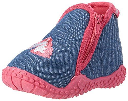 Playshoes Zapatillas Unicornio, Pantuflas, Azul (Jeansblau 3), 22/23 EU