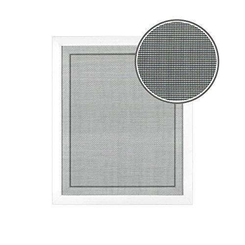 JAROLIFT Fliegengitter für Fenster 110 x 130cm, schwarz - 1er Pack