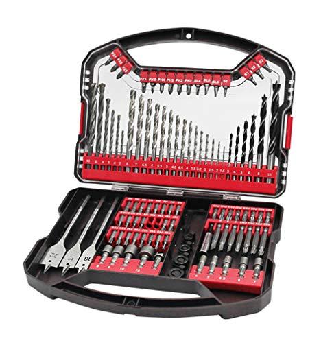 Hilka Tools 49707101 101 PCE Drill Bit and Accessory Kit, Black