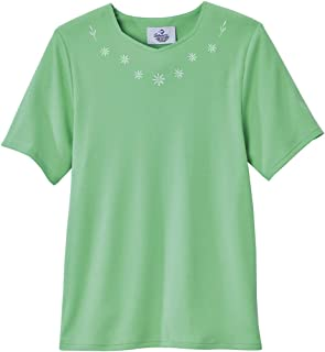 Adaptive Cotton Tshirt for Women Home Care Apparel Back Snap
