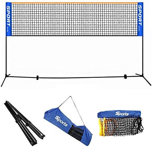 LTOOTA Tragbares professionelles Badmintonschlägerspielnetz, Tennisvolleyballnetz, für Gartenstrandsportarten im Innen und Außenbereich,3.1M/10.2FT