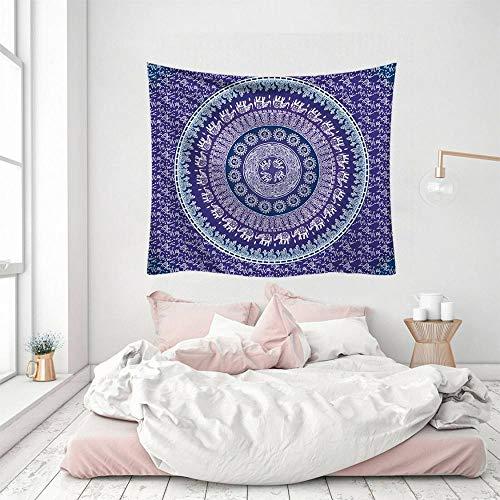 Wandteppich, lila, indisches Mandala, Kunst, Bohemia, Hippie, 3D-Druck, Polyester, Silber, dekorativ, Picknick, Schlafsaal, Wohnzimmer, Schlafzimmer, Arbeitszimmer, Fenster, Sim.