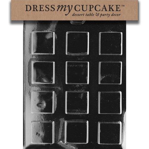 Dress My Cupcake Chocolate Candy Mold, Plain Square Mints by Dress My Cupcake