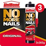 UniBond No More Nails Original, Heavy-Duty Mounting Adhesive, Strong Glue for Wood, Ceramic, Metal etc., White...