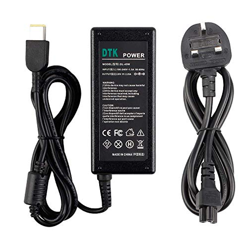 DTK 20V 2.25A 45W Laptop Charger for LENOVO thinkpad Notebook Computer PC Power Cord Supply Lead AC Adapter Flex Yoga IdeaPad series Connector:11.0 x 5.0mm【11.0 x 5.0mm】