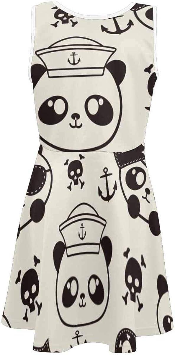 InterestPrint Girls Casual Sleeveless Dress Kids Printed Dress Cute Koala Bears and Floral (2T-XL)