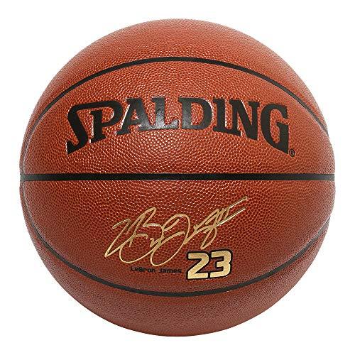 SPALDING(スポルディング) バスケットボール レブロン ジェームス コンポジット 76-455Z ブラウン 7号球 バスケ バスケット