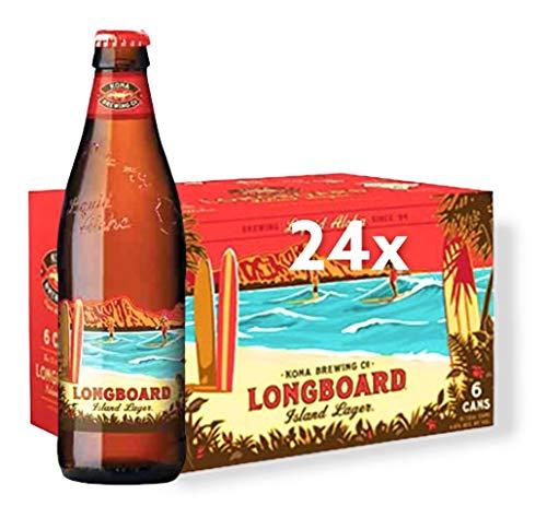 24 Flaschen Kona Brewing Longboard Lager 0,355l aus Hawaii Alc 4,6 Vol. inkl. 6 EUR Pfand