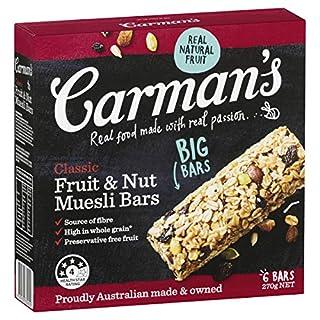 Carman's Muesli Bar Classic Fruit & Nut, 6-pack (270g) (B007XBDMG8) | Amazon price tracker / tracking, Amazon price history charts, Amazon price watches, Amazon price drop alerts