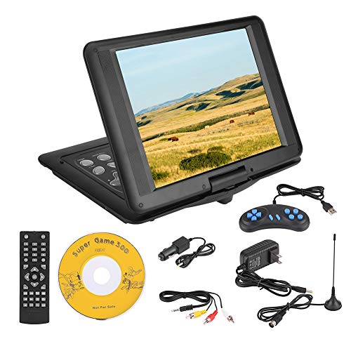 18.8 in Portable DVD  CD Player 270ーRotation Swivel Screen Car DVD Player Hundreds of Cable TV Wireless TV DVD CD Player, Personal Rechargeable VCD CD AVI Player for Rode Travelling(Us Plug)