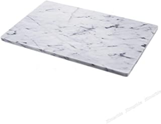 JEmarble Pastry Board 16x20 inch(Brown Box) with No-Slip Rubber Feet for Stability