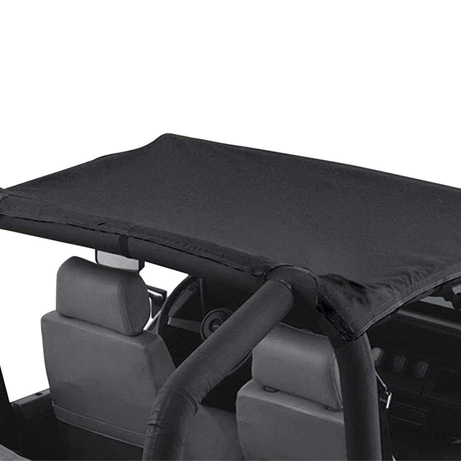 Rampage Products 90435 Black California Brief Soft Top for 2018 Jeep Wrangler Jl-Extended Oe Style