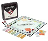 "Winning Solutions Monopoly Nostalgia Tin Board Games, Multi, 10.5"" L x 10.5"" W x 2"" H"