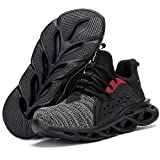 AIGU Steel Toe Shoes Men Women-Indestructible Lightweight Breathable Comfortable Safety Wide Sneakers for Work