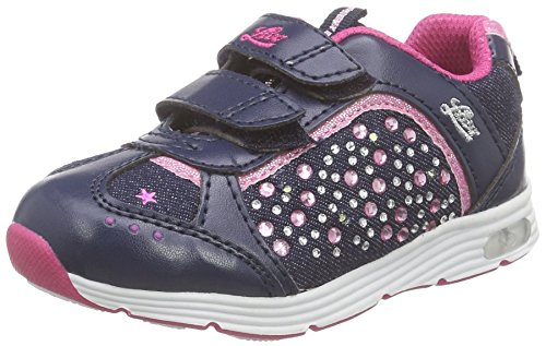 Lico Mädchen Shine V Blinky Low-Top, Blau (Marine/PINK), 32 EU