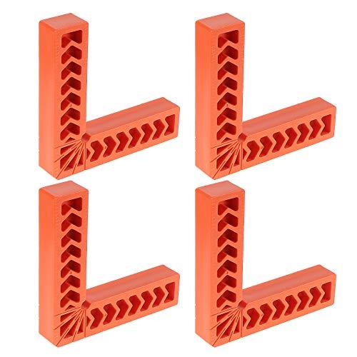 Fippy 4 pz 90 gradi posizionamento quadrati morsetto, 15 pollici angolo retto righello in plastica, strumento per la lavorazione del legno, supporto ausiliario per cornici, scatole, armadi cassetti