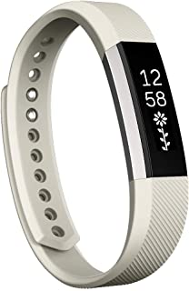 Consumer Electronics for Fitbit Alta Watch Oblique Texture Silicone Watchband, Large Size, Length: About 22cm(Black) (Color : Beige)