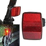 DACCU 4S04 HS Fahrradaufkleber für Fahrradlenker, Fahrradaufkleber, Vorder- und Rückseite, Rot/Weiß Einheitsgröße rot