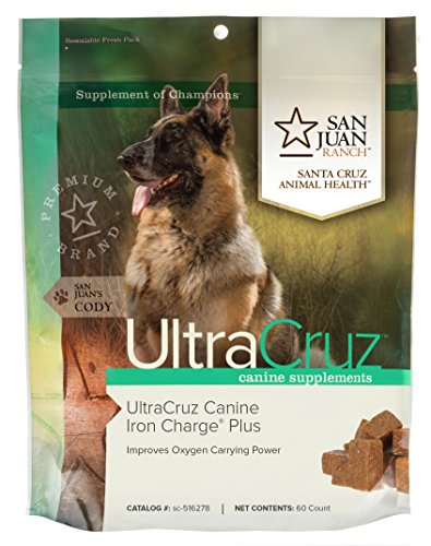 UltraCruz Canine Iron Charge Plus Supplement for Dogs  60 Tasty Chews