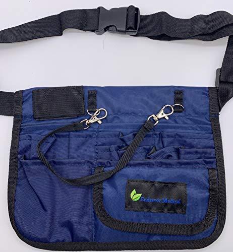 Professional Medical Organizer Belt Waist Fanny Pack for Nurse - Blue Color