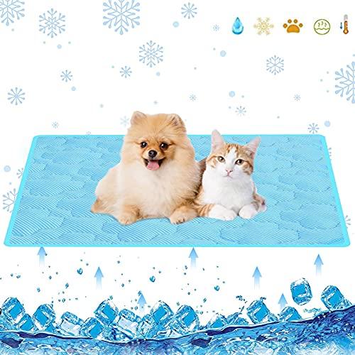 Raffreddamento Animali Tappetino,Tappetino Rinfrescante Cani,Tappetino Refrigerante Animali Domestici,Tappetino per Dormire con Raffreddamento per Animali ,Pad Auto-Raffreddamento (S)
