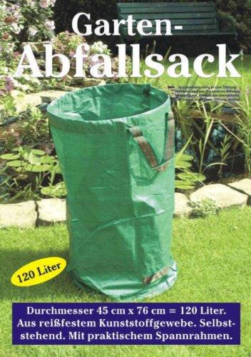 Made for us® Garten-Abfallsack, 120 Liter, reißfest, selbststehend und beschichtet, 180g/m², Original Gartensack als Laubsack, Sack 120l