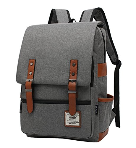LeaLac Unisex Casual Lightweight Children School Bag Laptop Backpack Travel College Backpack For Women (FB01-B) Grey
