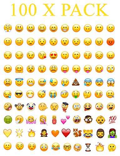 100 x WhatsApp iPhone Laptop Emoji Emoticon Smiley Gesicht Aufkleber Echt