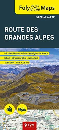 FolyMaps Route des Grandes Alpes Spezialkarte: 1:250 000
