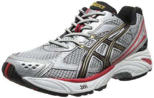 ASICS Men's Gel Foundation 8 Running Shoe,Lightning/Black/True Red,10.5 M US