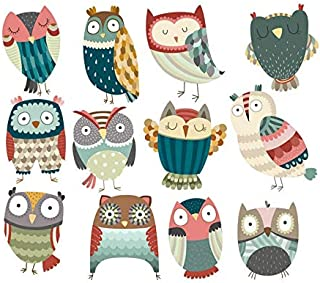 Patches - 1pc Cute Colorful Owl Patch Iron On Clothes Badges Deco A Level Patches Washable Transfers - Bird Camera Heart Soccer Navy Park Design Tree Coffee Backpack Adhesive Undertale Fing