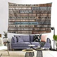 ROSECNY タペストリー インテリア 壁掛け 勇気のためのインスピレーションを与える動機付けの幸福の引用は素晴らしいポスター印刷素朴な小屋 壁飾り 家 リビングルーム ベッドルーム 部屋 おしゃれ飾り 200x150cm