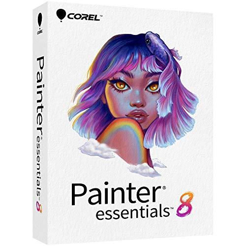 Corel Painter Essentials 8 | Beginner Digital Painting Software | Drawing & Photo Art [PC/Mac Key Card]