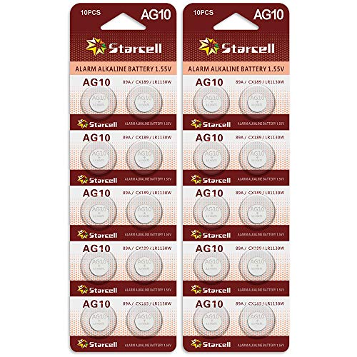 Act 20 Stück AG10 LR1130 1.5V Alkaline Knopfzelle Batterien ohne Quecksilber